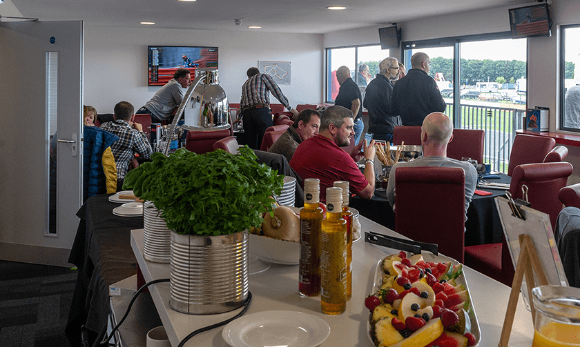 Guests at tables in Brooklands Suite 2