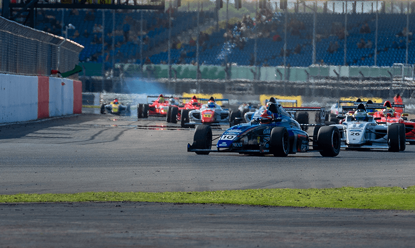 Into Copse with FIA Formula 4