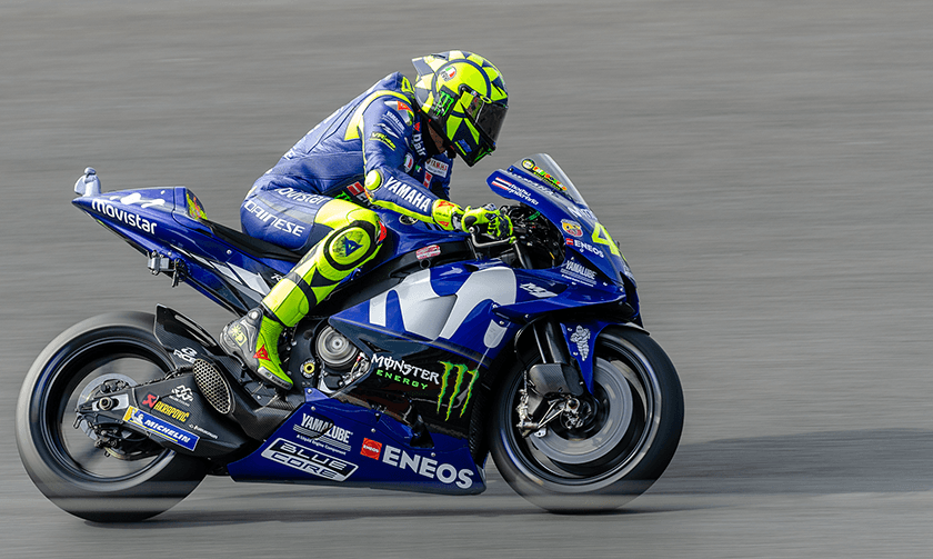 #VR46 - Valentino Rossi approaching Brooklands