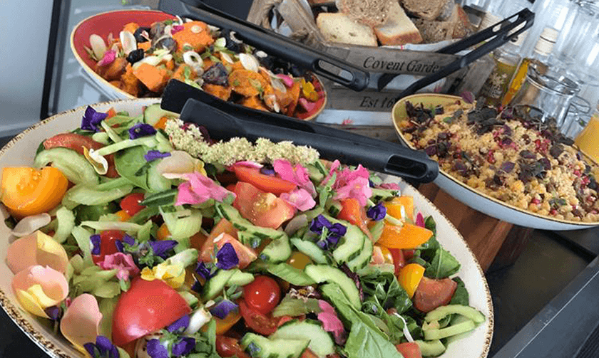 A great array of salads is always available