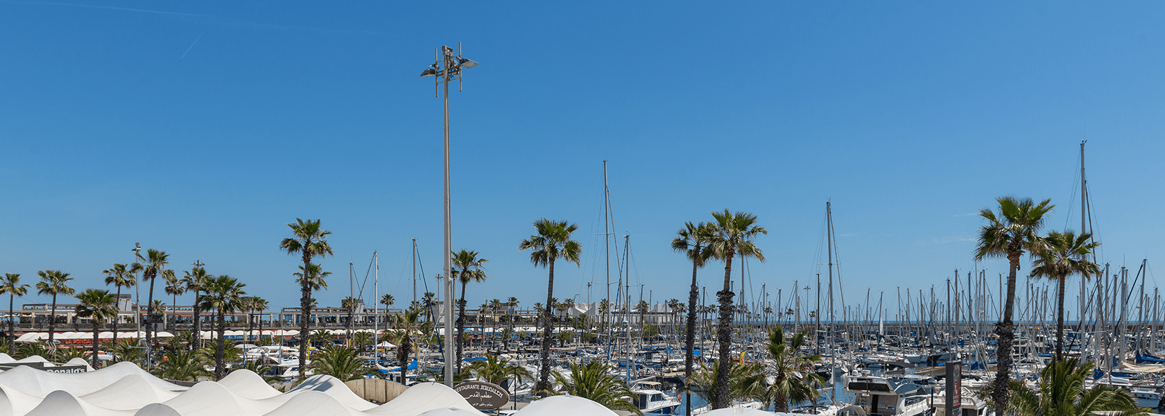 Barcelona's Olympic Marina is just a short walk from the hotel